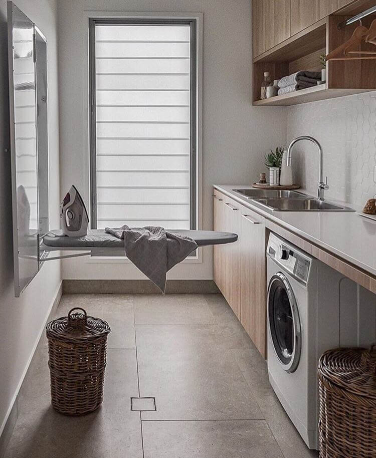 laundry room scandi