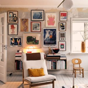 An Amazing Gallery Wall in Denmark and How to Create it Yourself