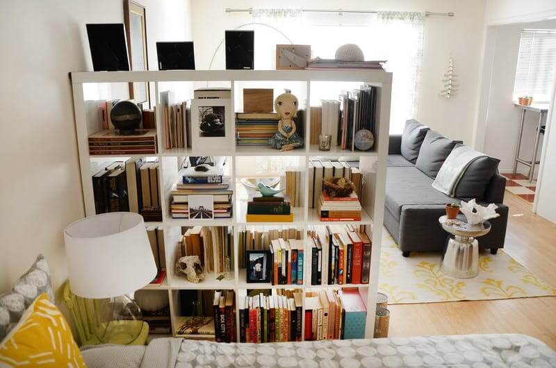 bookcase as a divider