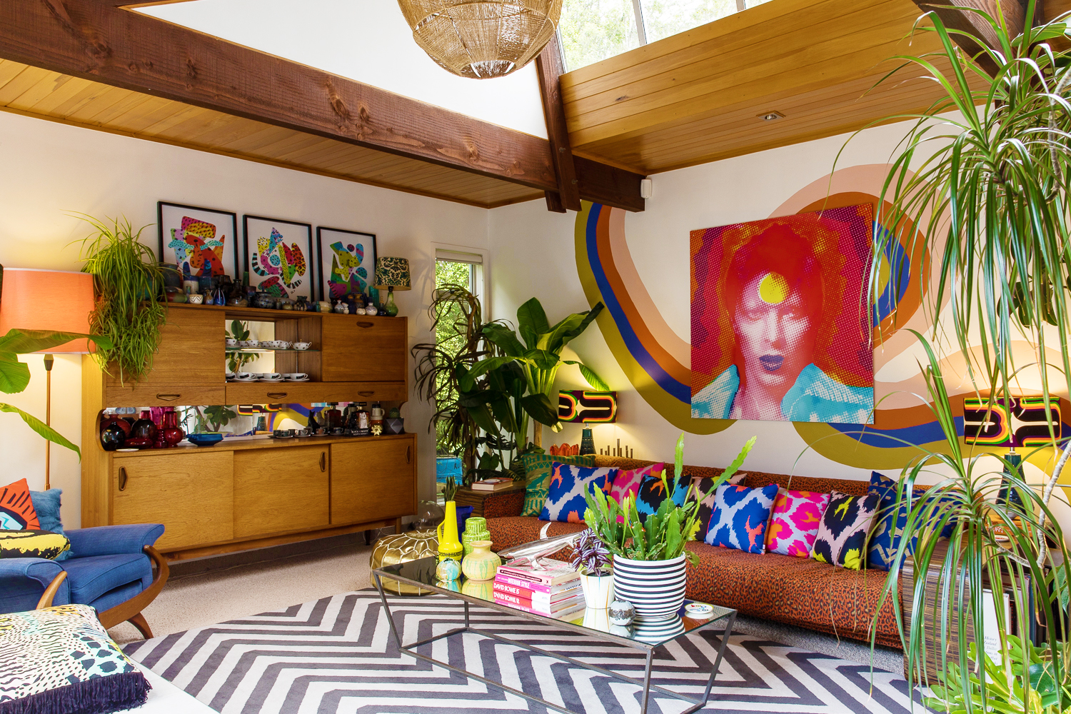 colorful living room maximalism