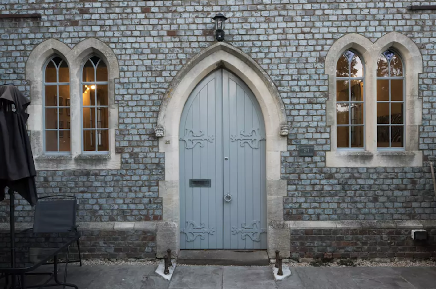 Airbnb chapel from Warborough exterior door