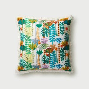 Palm Tree Fringe Pillow by Justina Blakeney