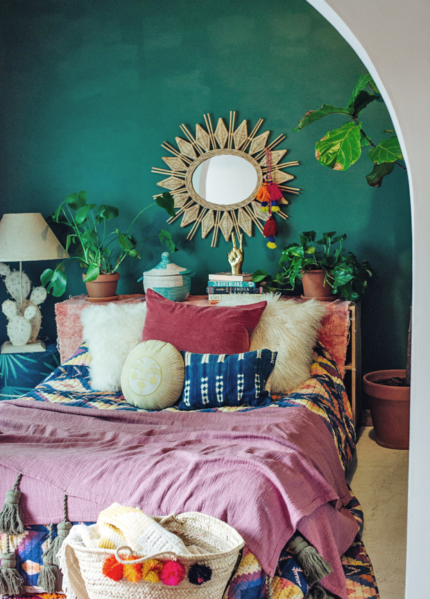 a bohemian bed the jungalow