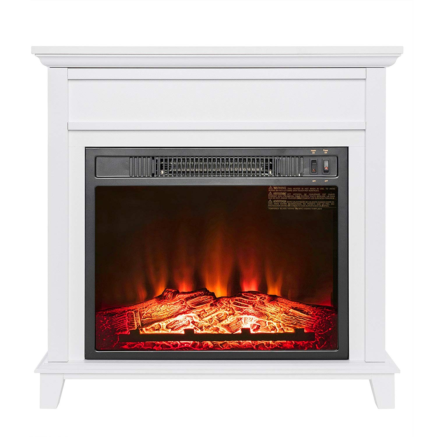 hygge decor electric fireplace