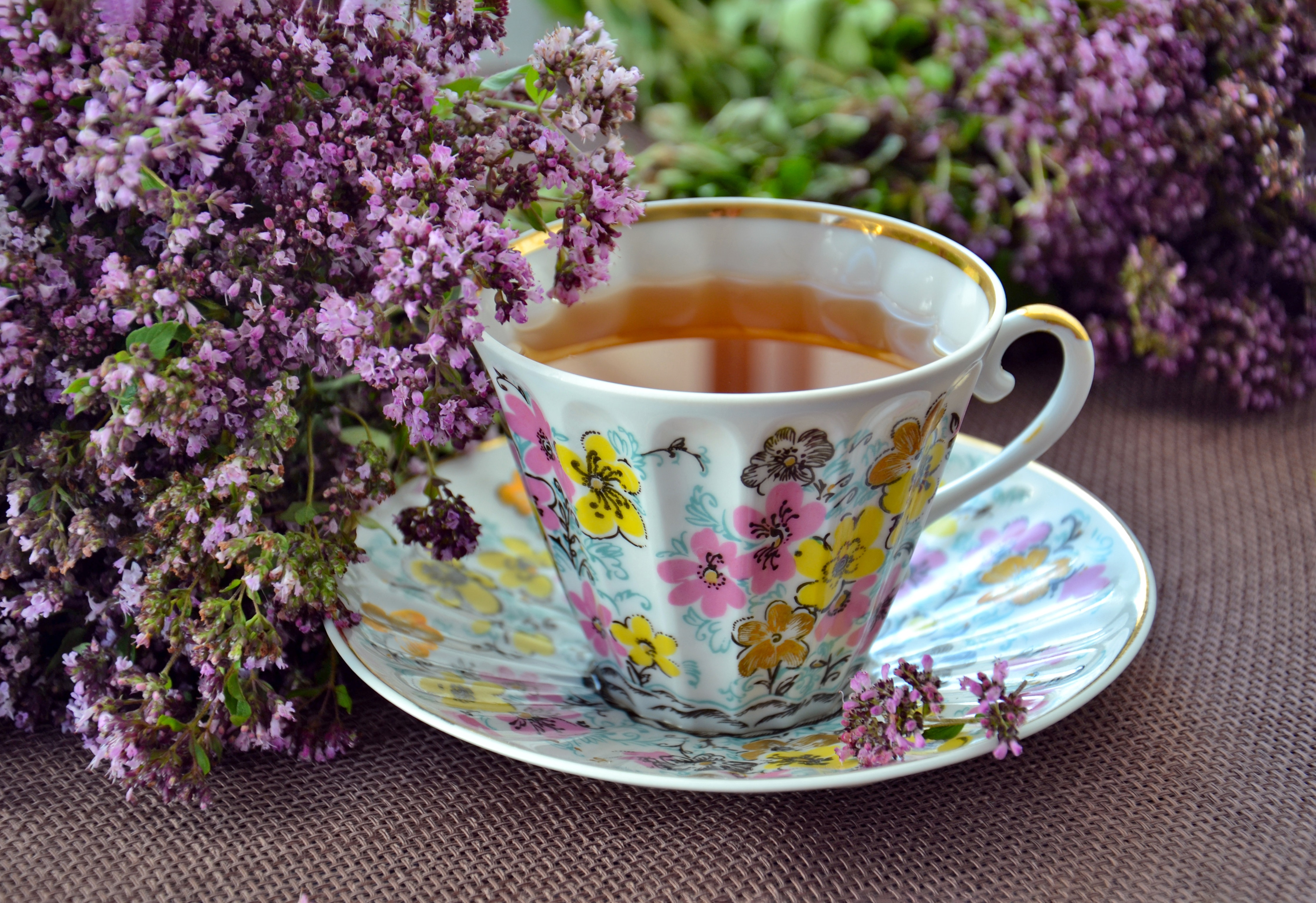 hygge home decor lavender tea