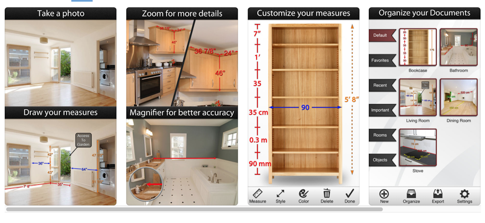 photo measure home decor app